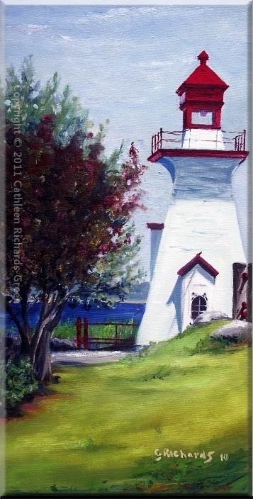 Richie Wharf Lighthouse, Miramichi - SOLD
